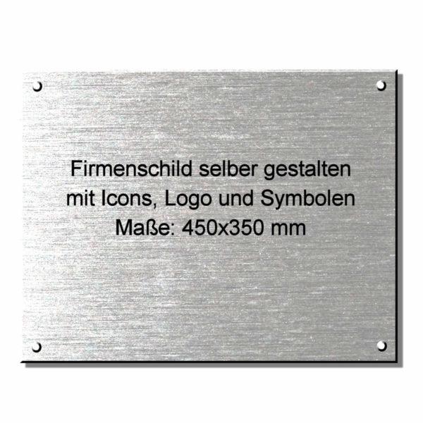 Kanzleischild Firmenschild online gestalten 450x350 mm