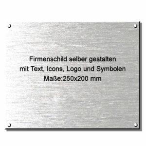 Firmenschild außen online gestalten 250x200 mm