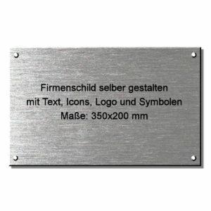 Firmenschild selber gestalten 350x200 mm