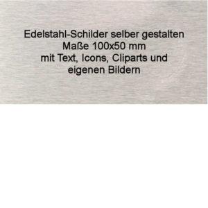 Edelstahl Schild mit Gravur 100x50-schilder-1