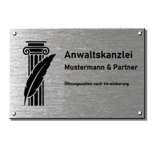 Kanzleischilder Rechtsanwalt, Anwaltsschild Maße: 150x100 mm Materialstärke: 4 mm
