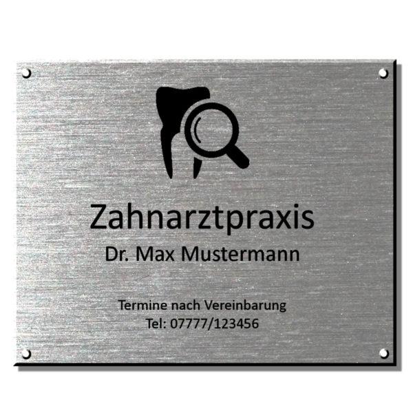 Praxisschild Arztschilder Maße: 250x200 Materialstärke: 4 mm