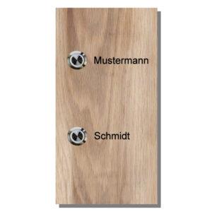 Türklingel aus Holz (Eiche massiv) Maße: 130x250x25 mm links