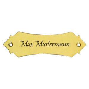 Messingschilder online gestalten Maße: 101x32 mm Materialstärke: 1,5 mm