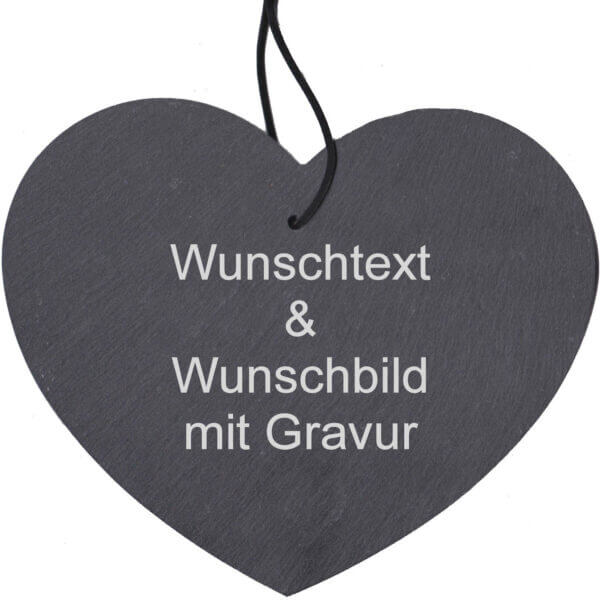 """""""Schieferherz Hochzeit"""" mit Gravur"""