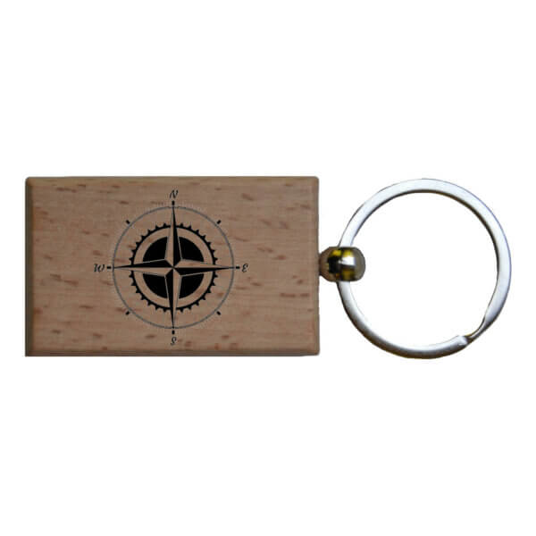 Holz Schlüsselanhänger mit Gravur personalisiert