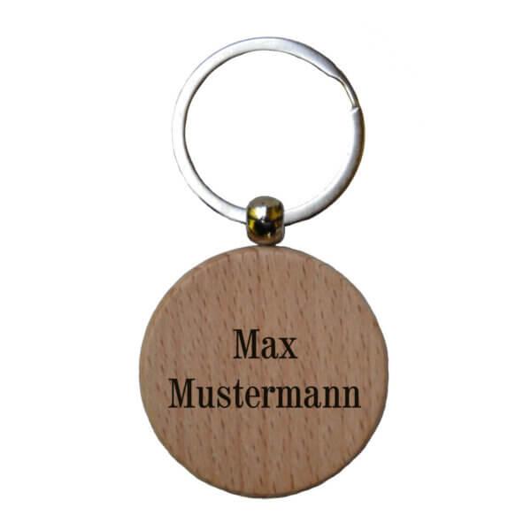 Personalisierter Schlüsselanhänger aus Holz