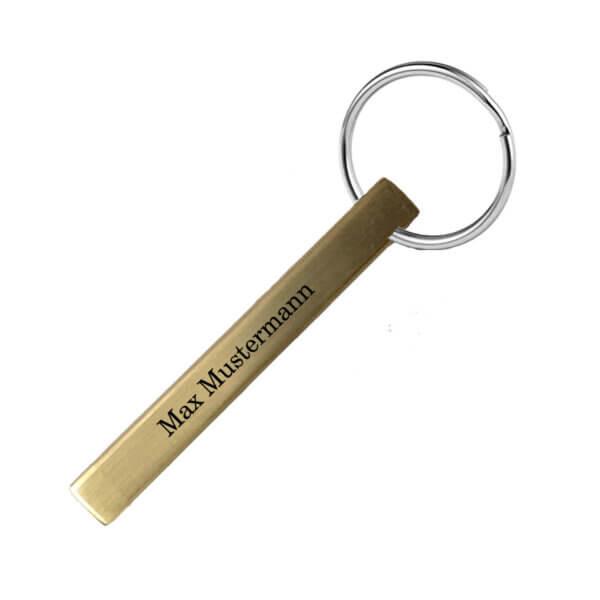 Messing Schlüsselanhänger mit Gravur