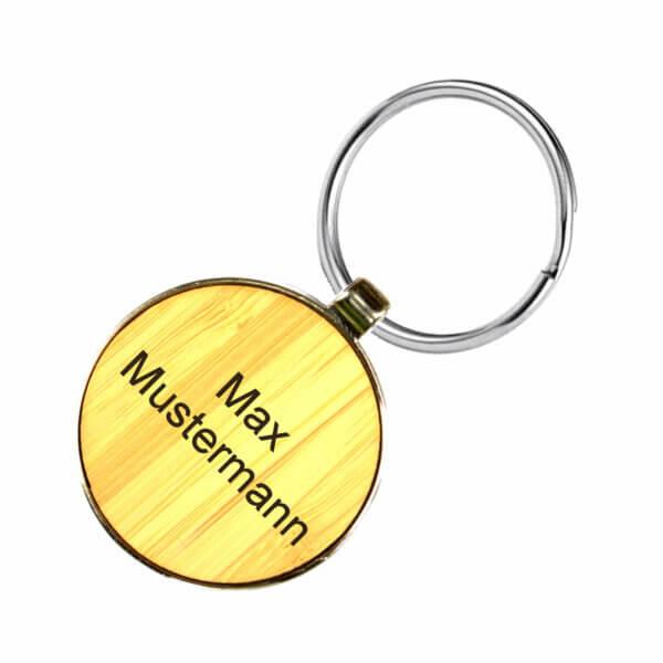 personalisierte Schlüsselanhänger mit Gravur einseitig