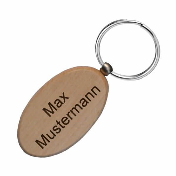 Schlüsselanhänger personalisiert Holz mit Gravur
